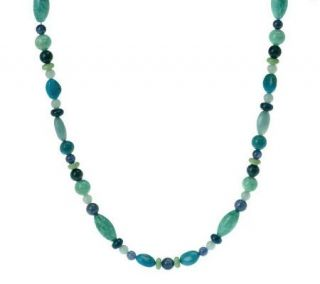Carolyn Pollack Changing Seasons Sterling 17 Bead Necklace   J266711