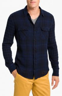 Vince Dual Plaid Flannel Shirt