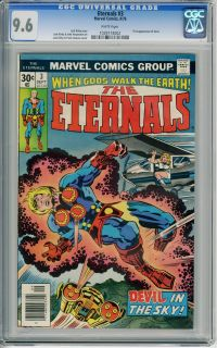 Eternals 3 1976 CGC NM 9 6 White Pages 1st Appr Sersi Jack Kirby Art