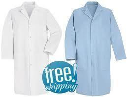 New Red Kap Mens Long Sleeve Medical Lab Coat s 2XL