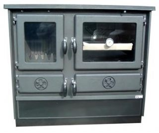 Wood Coal Burning Cook Stove Magnum Black