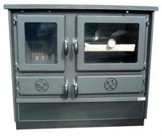 Wood Coal Burning Cook Stove Magnum Black