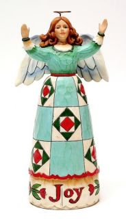 Joy Angel Figurine Country Quilt Gown Jim Shore Heartwood Creek