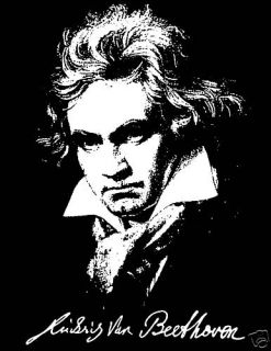 Beethoven T Shirt Composer Piano Classical Music