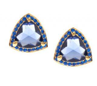 Joan Rivers Elegant Estate Style Crystal Post Earrings   J273714