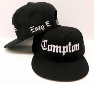 Eazy E Black Vintage Compton Flat Bill Snap Back Baseball Cap Hat