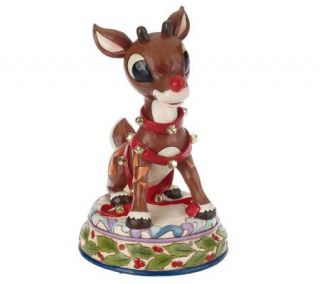 Jim Shore Rudolph Traditions 15 1/4 Lighted Rudolph Statue —