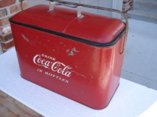 Vintage Coca Cola Cooler w Tray Progress Refrigerator Co Louisville KY