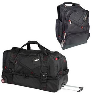 Rolling Duffel Bag 15 4 Laptop Backpack Combo Set Ful Luggage
