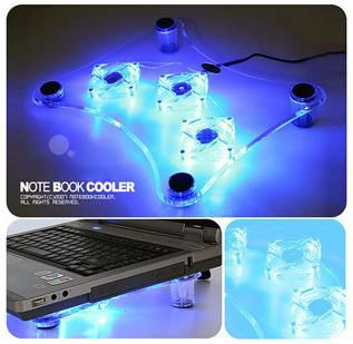 USB 3 Fans Laptop Notebook Cooling Cooler Pad LED Light