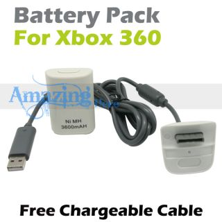 Controller Battery Charger Kit Fr Xbox 360 Elite Slim