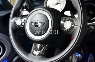 JCW Mini Cooper 3pcs Carbon Fiber Steering Wheel Cover