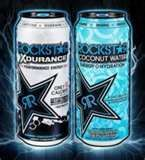Rockstar Energy Drink Xdurance or Coconut Water 8 Pack 16 oz Cans New