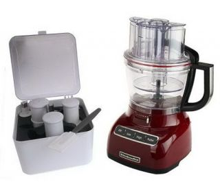 KitchenAid 13 Cup 3 in 1 Wide Mouth Food Processor w/ Accessories