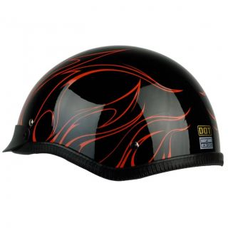 PGR B31 Convict Black Orange Motorcycle Dot Approved Half Helmet