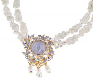 Kirks Folly Dream Angel Double Row Beaded 19 Necklace —