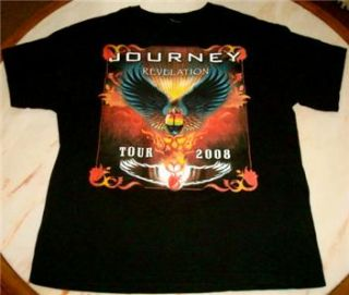 Journey Revelation Concert Tour T Shirt 2008 Black 2 Sided Heart Cheap