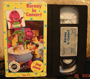 Baby Newton VHS - Barney concert vhs