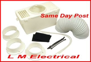 Universal Tumble Dryer Vent Hose Condenser Vent Kit with Adaptor Fits