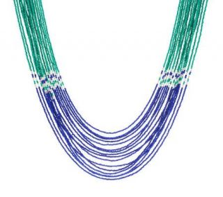 Susan Graver Nested Multi Strand Seed Bead Necklace —