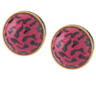 Joan Rivers Jungle of Color Animal Print Stud Earrings —