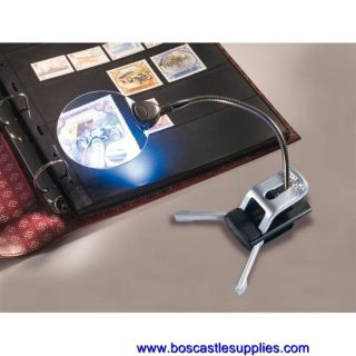 Lighthouse Stamp & Coin Table Magnifier with Adjustable Arm, 2.5x