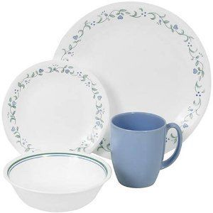 Corelle 16 PC Dinnerware Set Country Cottage Plates New