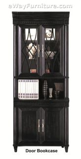 Federal Black Wood Credenza and Hutch Home Office Computer Furniture