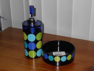 New 2pc Bathroom Accessory Set Soap Dish Dispenser