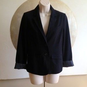 Lauren Conrad Black Blazer Casual or Work Carreer Wear Classic Look Sz
