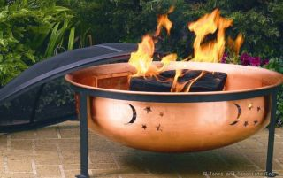description cobraco decorative 100 % copper patio fire pit