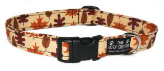 Autumn Harvest Leaves Thanksgiving Fall Dog Collar All Sizes Available