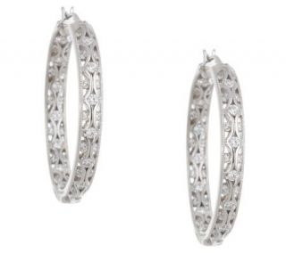 Tacori IV Diamonique Epiphany Inside Out Crescent Hoops —