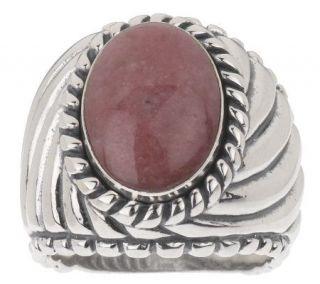 Carolyn Pollack Sterling Rhodonite Cabochon Ring —