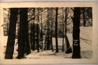 1947 RPPC Tents at Green Mountain Camp in Dummerston Vermont VT