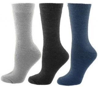 35 Degrees Below 3 Pair Merino Wool Boot Socks —