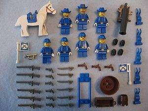 Lego Civil War Cavalry Soldier Minifig Shooting Canon 1
