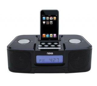 Naxa NI 3103 Digital Alarm Clock Radio w/Dock for iPod   Black