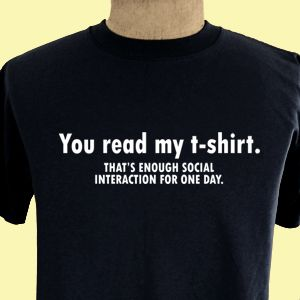 You Read My T Shirt Funny College Party Geek T Shirt