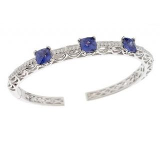 Tacori IV Diamonique Epiphany SimulatedGemsto Hinged Bangle —