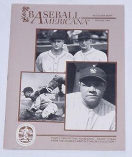 1984 Conlon Baseball Americana Postcard Set 2 Babe Ruth Lou Gehrig