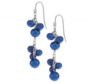 Honora Cultured FreshwaterPearl Cluster Dangle Sterling Earrings
