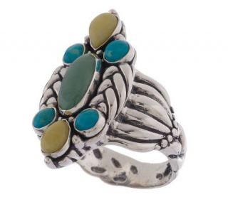 Carolyn Pollack Sterling American Gems Multi gemstone Ring —