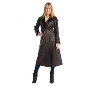 Luxe Rachel Zoe Full Length Reversible Faux Shearling Coat —