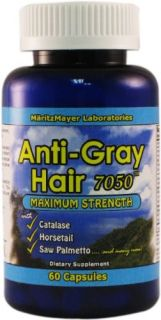 Anti Gray Hair Catalase Saw Palmetto Horsetail Stop End Restore Color