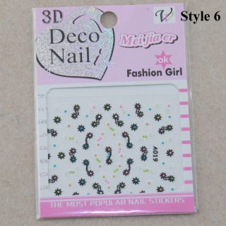 3D Design Mix Color Nail Art Sticker Tips Decal Manicure Decoration 13