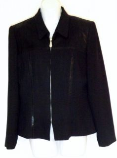 Constance Saunders Jacket long sleeves pointed collar made in U S A