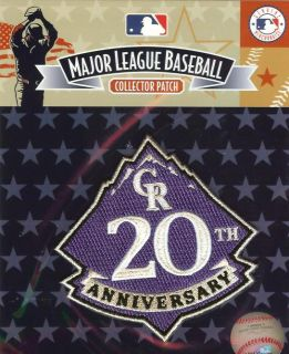 2013 Colorado Rockies 20th Anniverary Jersey Logo Patch 100% Official
