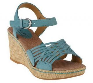 by Born Tootsie Leather Quarter Strap Wedge Sandals   A212841