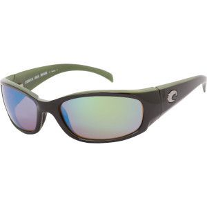 Costa del Mar HAMMERHEAD Polarized Sunlasses Black Green Mirror 400
